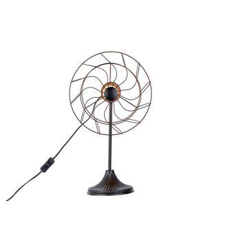 Cosy @ Home Lampe Ventilator Schwarz 32x22,5xh53cm M
