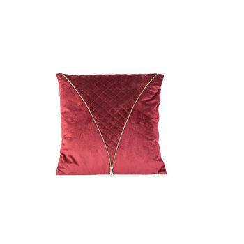 Cosy @ Home Kissen Zipper Bordeaux 45x10xh45cm