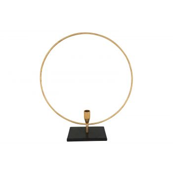 Cosy @ Home Leuchter Circle Gold 39x9xh44cm Metall