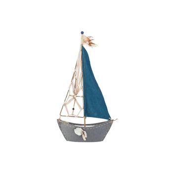 Cosy @ Home Segelboot Blau 37xh72cm Textil