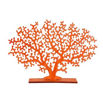 Cosy @ Home Korallenpflanze Orange 30xh22cm Holz