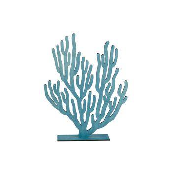 Cosy @ Home Korallenpflanze Blau 31xh40cm Holz