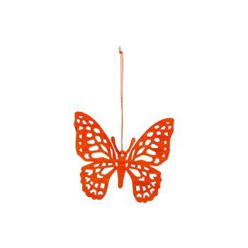Cosy @ Home Schmetterling Hanger Orange 12xh11cm Hol