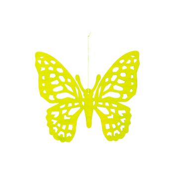 Cosy @ Home Schmetterling Hanger Grun 25xh22cm Holz
