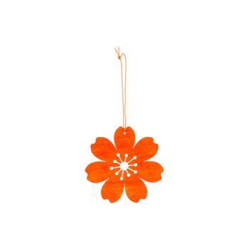 Cosy @ Home Blume Hanger Orange D12cm Holz