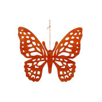 Cosy @ Home Schmetterling Hanger Orange 25xh22cm Hol