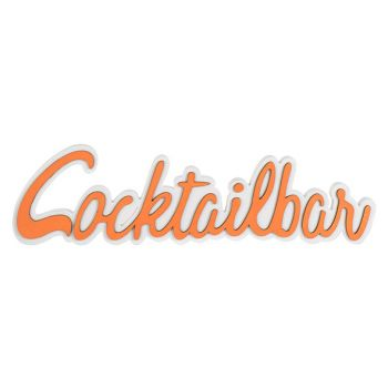 Cosy @ Home Coctailparty Orange 48x2xh13cm Holz