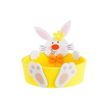Cosy @ Home Osterkorb Rabbit Gelb D13xh12,5cm Filz