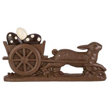 Cosy @ Home Osterhase Pulling Egg Schokolade 32,6x6x