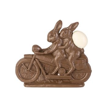 Cosy @ Home Osterhase On Bike Schokolade 21,5x4,5xh1