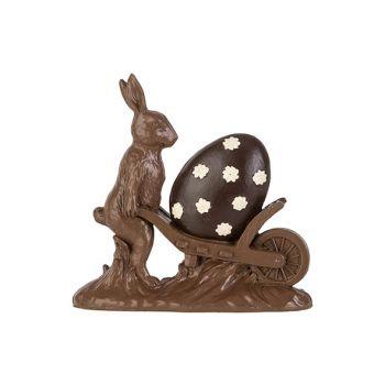 Cosy @ Home Osterhase Cart Schokolade 18,8x5,3xh18,4