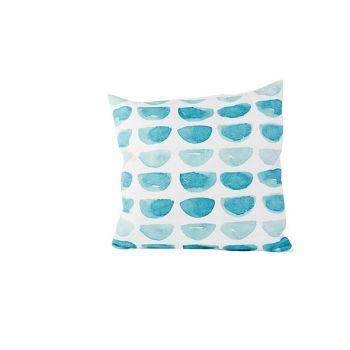 Cosy @ Home Kissen Blue Print  Weiss 45x45xh10cm Pol
