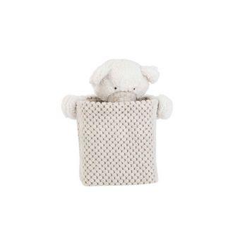 Cosy @ Home Korb Bear White Grau 17x17xh20cm