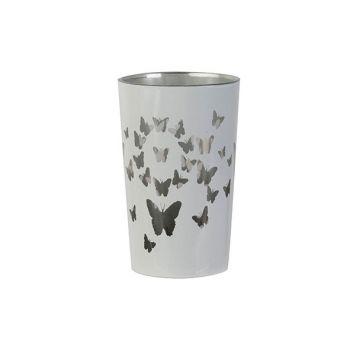 Cosy @ Home Teelichthalter Butterflies Weiss D7xh11c