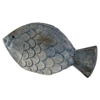 Cosy @ Home Fisch Fish Skin Blau 13,5x2,5xh7cm
