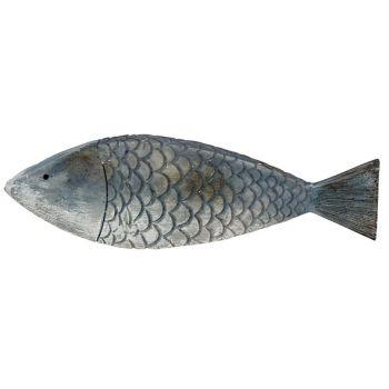 Cosy @ Home Fisch Fish Skin Blau 18,5x2,5xh5,5cm