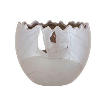 Cosy @ Home Ei Carved Taupe 13,1x13,1xh10cm Keramik