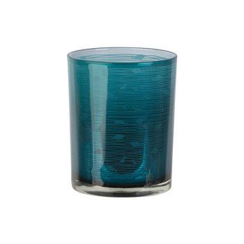 Cosy @ Home Teelichthalter Fish Blau D10xh12cm Glas