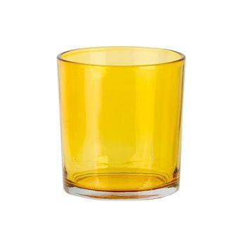 Cosy @ Home Teelichthalter Spring Gelb D7xh8cm Glas