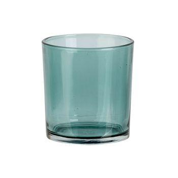 Cosy @ Home Teelichthalter Spring Blau D7xh8cm Glas