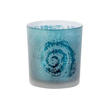 Cosy @ Home Teelichthalter Shell Blau D7xh8cm Glas