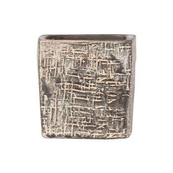 Cosy @ Home Blumentopf Braun 8x8xh8cm Quadratisch St