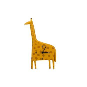 Cosy @ Home Uhr Giraffe Gelb 17,8x4,1xh29,7cm Polyre