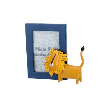 Cosy @ Home Bilderrahm Lion Blue Gelb 20,1x11,5xh
