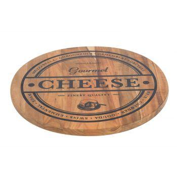 Cosy & Trendy Kasebrett Cheese D35xh1,8cm Rund Acacia