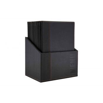 Securit Trendy Menuhalter Schwarz 34x24,6xh,4cm