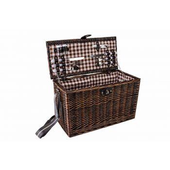Cosy & Trendy Picknickkorb 4p Braun 49x23xh29cm Rechte