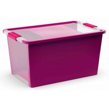 Kis Bi-box Aufbewahrbox L Violet 40l 58x35,2