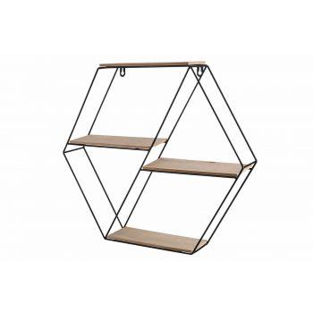 Cosy @ Home Decorack Schwarz 49,5x8,5xh44cm Metall