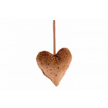 Cosy @ Home Hanger Heart Strass Karamell 13x3xh13cm