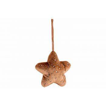 Cosy @ Home Hanger Star Strass Karamell 13x3xh13cm P