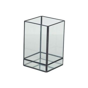 Cosy @ Home Laterne Mirror Grau 10x10xh16cm Metall-g