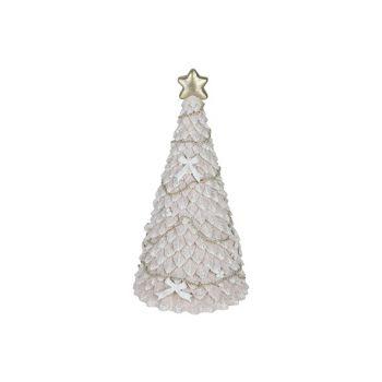 Cosy @ Home Weihnachtsbaum Glitter Hellrosa 8x8xh13c
