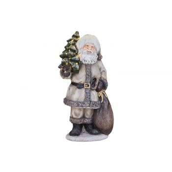 Cosy @ Home Santa With Light And Tree Beige 40x30xh7