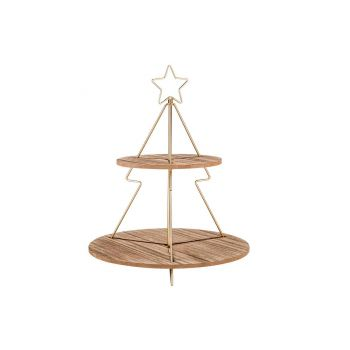 Cosy @ Home Tortenstander Star  Gold 37x37xh46,5cm H