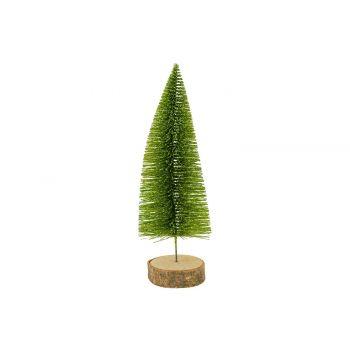 Cosy @ Home Weihnachtsbaum Glitter Wood Base Grun 8x