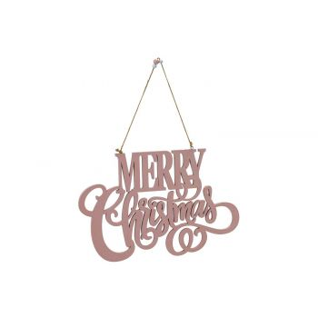 Cosy @ Home Hanger Merry Christmass  Hellrosa 34,5x2