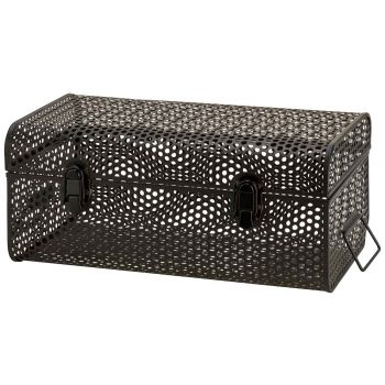 Cosy @ Home Koffer Perforated Schwarz 40x23,5xh17cm