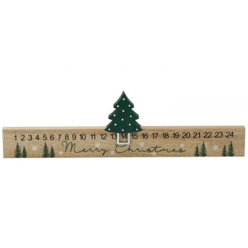 Cosy @ Home Kalender Grun 400x1,5xh11cm Holz