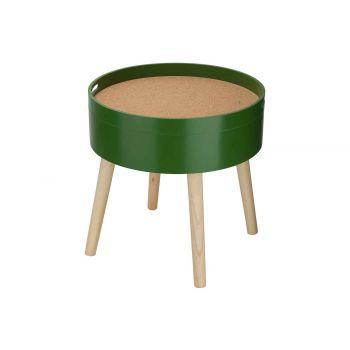 Cosy @ Home Beistelltisch Cork Grun 45x45xh45cm Rund
