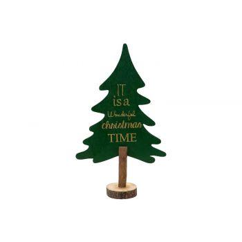 Cosy @ Home Weihnachtsbaum Grun 29,7x17,8xh6,3cm Hol
