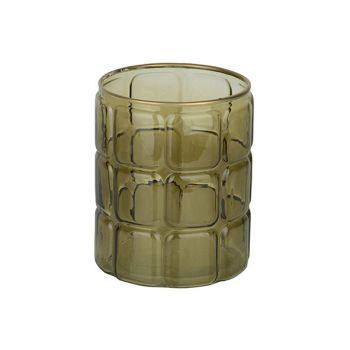 Cosy @ Home Windlicht Grun 12x12xh15cm Rund Glas