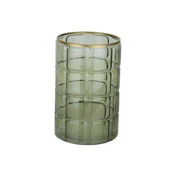 Cosy @ Home Windlicht Grun 15x15xh23cm Rund Glas