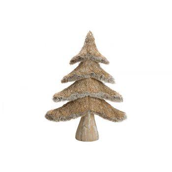 Cosy @ Home Weihnachtsbaum Straw Natural 31x10xh41cm