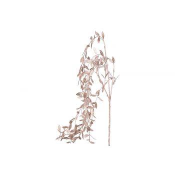 Cosy @ Home Dekozweig Metallic Leaves Rosa 5x5xh85cm
