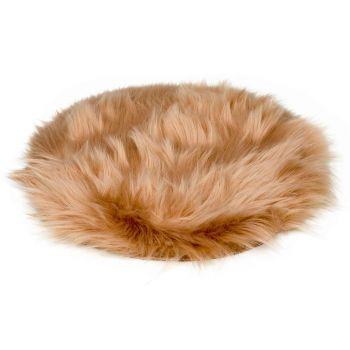 Cosy @ Home Untersetzer Fur Beige D35xh1cm Polyester